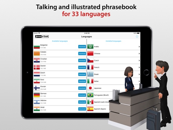 Travel Interpreter Phrasebook Screenshots