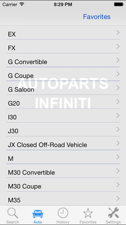 Autoparts for Infiniti screenshot-4