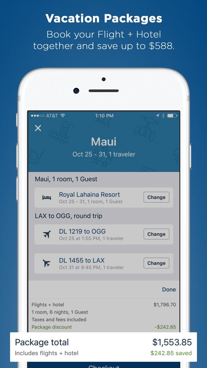 Travelocity Flight, Hotel, Car Screenshot