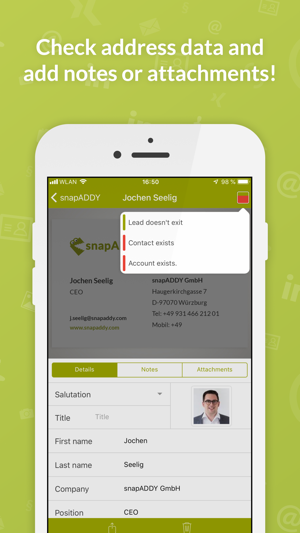 Business Card Scanner For Crm On The App Store