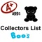 Unofficial Boos Collectors List