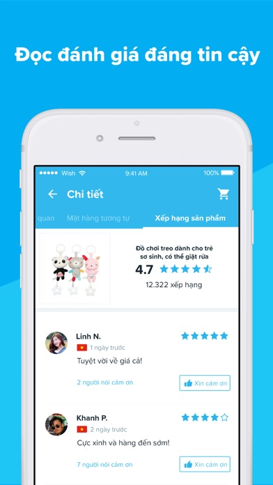 Screenshot for Wish - Mua sắm thật thú vị in Viet Nam App Store