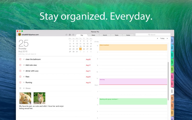 Planner Pro - Daily Calendar & Personal Organizer for Mac
