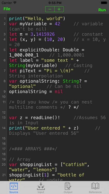 Sedona - Compile Swift Program