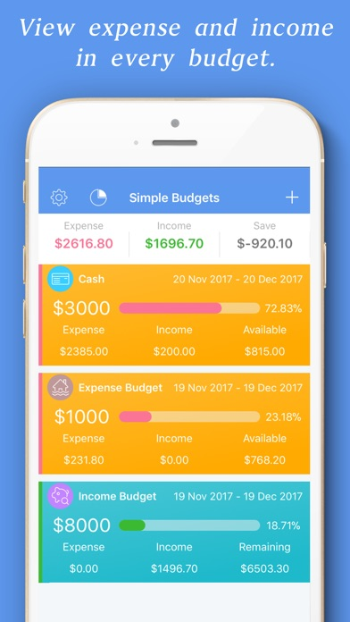 Simple Budget - Save Money Screenshots