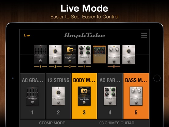 AmpliTube Acoustic Screenshots