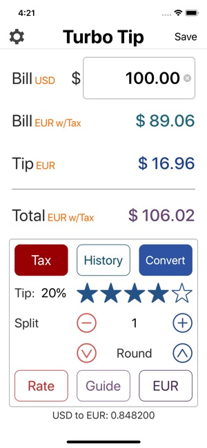 turbo tip calculator on the app store