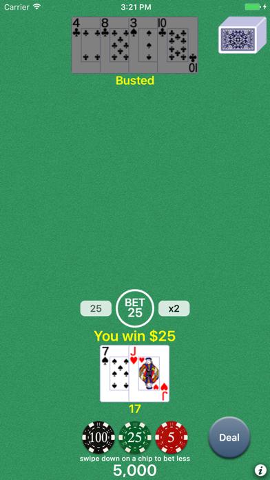 Blackjack 21 Classic Pro screenshot1