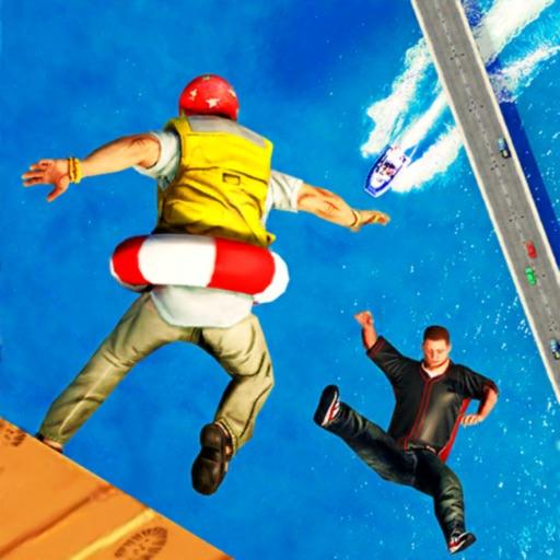 Ragdoll Fall Action Stunts