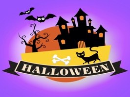 Sticker Halloween banner for iMessage on iPhone and iPad, that is have many nice sticker collection about text and symbol Halloween to send friends in Halloween event to year