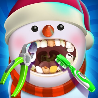 Christmas Dentist Elf.Santa Dentist Clinic Winter Snowman Game For Girls On The