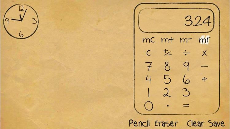 Paper Calculator & Clock
