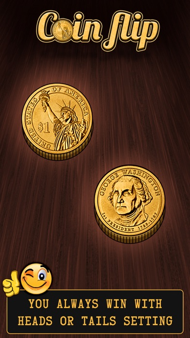 Coin Flip + With Double Sided Coin - Always Win Screenshot