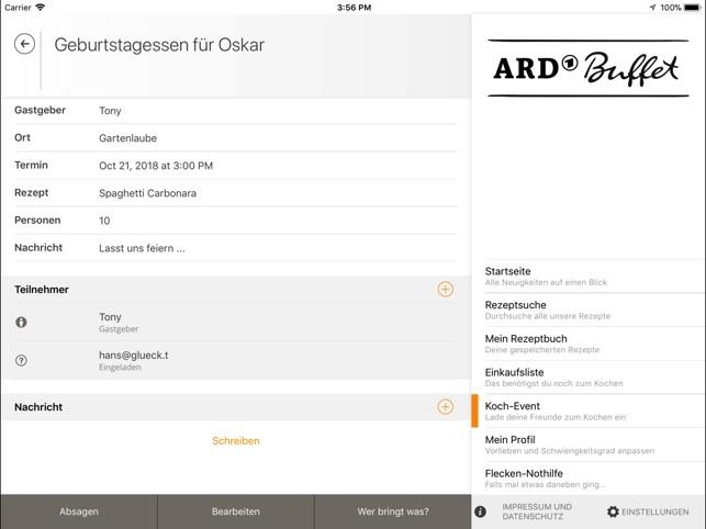 ARD Buffet im App Store