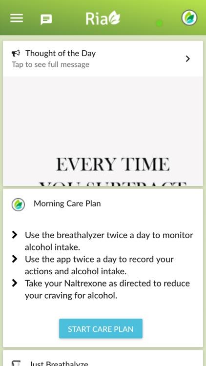 Ria Health Alcohol Reduction