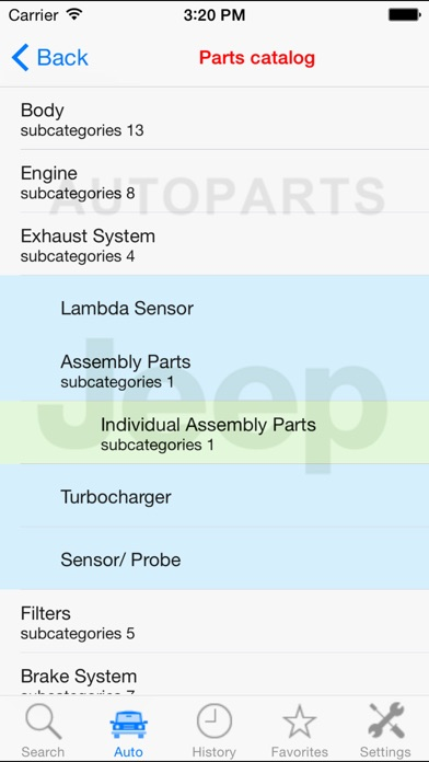 Screenshot for Autoparts for Jeep in Finland App Store