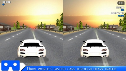 VR Racing Car Highway screenshot 2