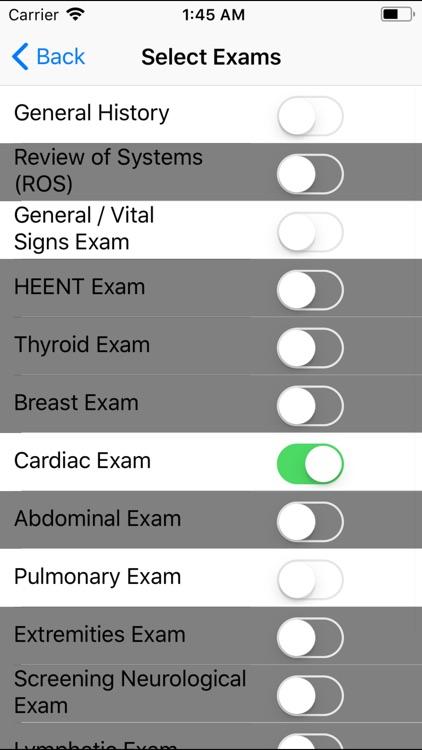 Smart Medical Apps H&P
