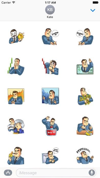 Mr. Trader CoinMoji Sticker screenshot 2