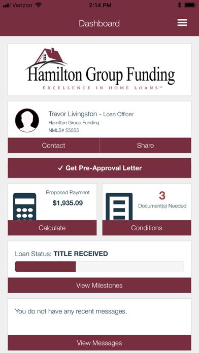 Hamilton Group Funding screenshot two
