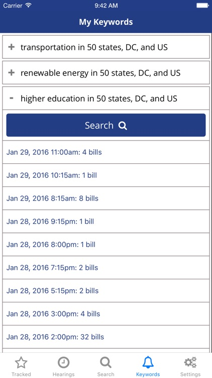 TrackBill: Legislation Tracker screenshot-4