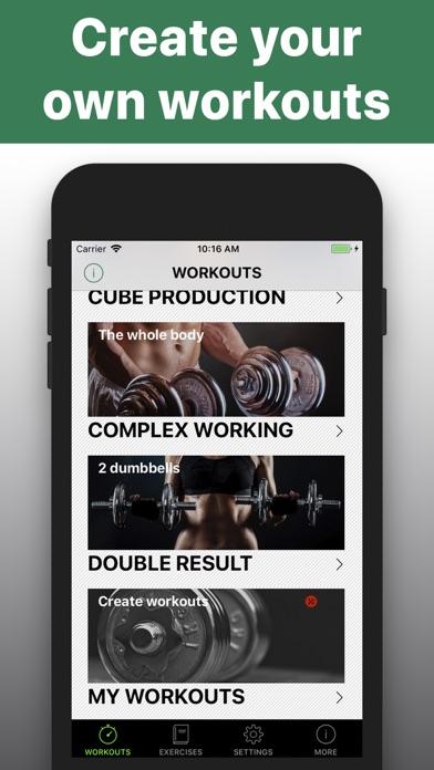 Dumbbell workout HIIT trainerのおすすめ画像5
