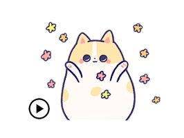 Animated Kitty CatMoji Sticker