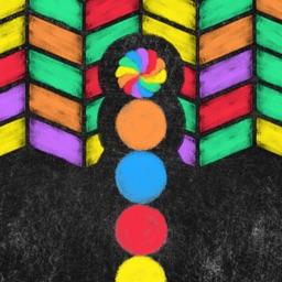 Snake Crayon Run - Color Smash