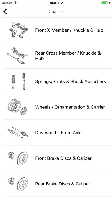 Screenshot for Car parts for Ford in France App Store