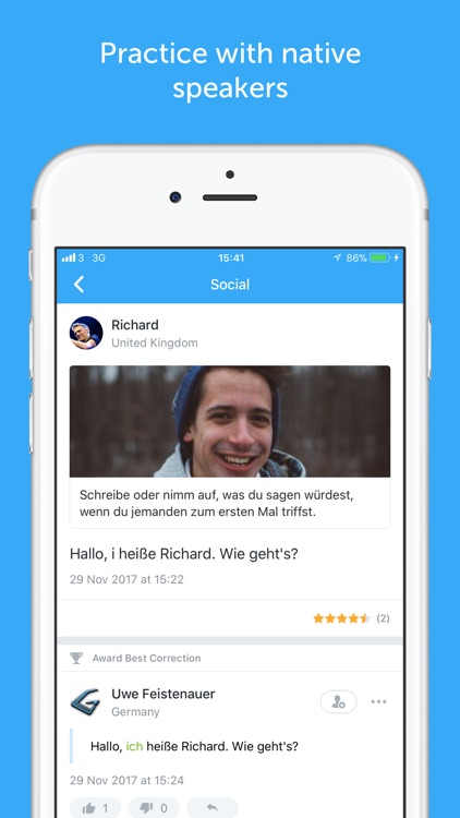busuu - Learn to speak German screenshot-3