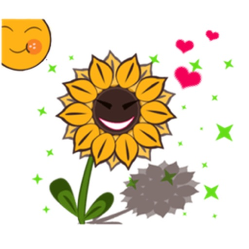 Cute Sunflower - Flowermoji Sticker