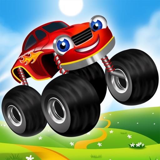 monster trucks kids racing game by raz games