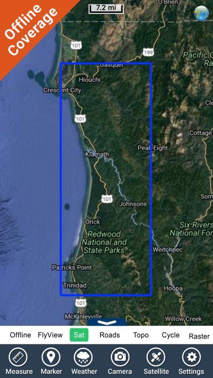 Redwood National Park gps and outdoor map screenshot-4