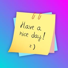 Handwritten Sticky Notes Text - App - iosfans com App Store