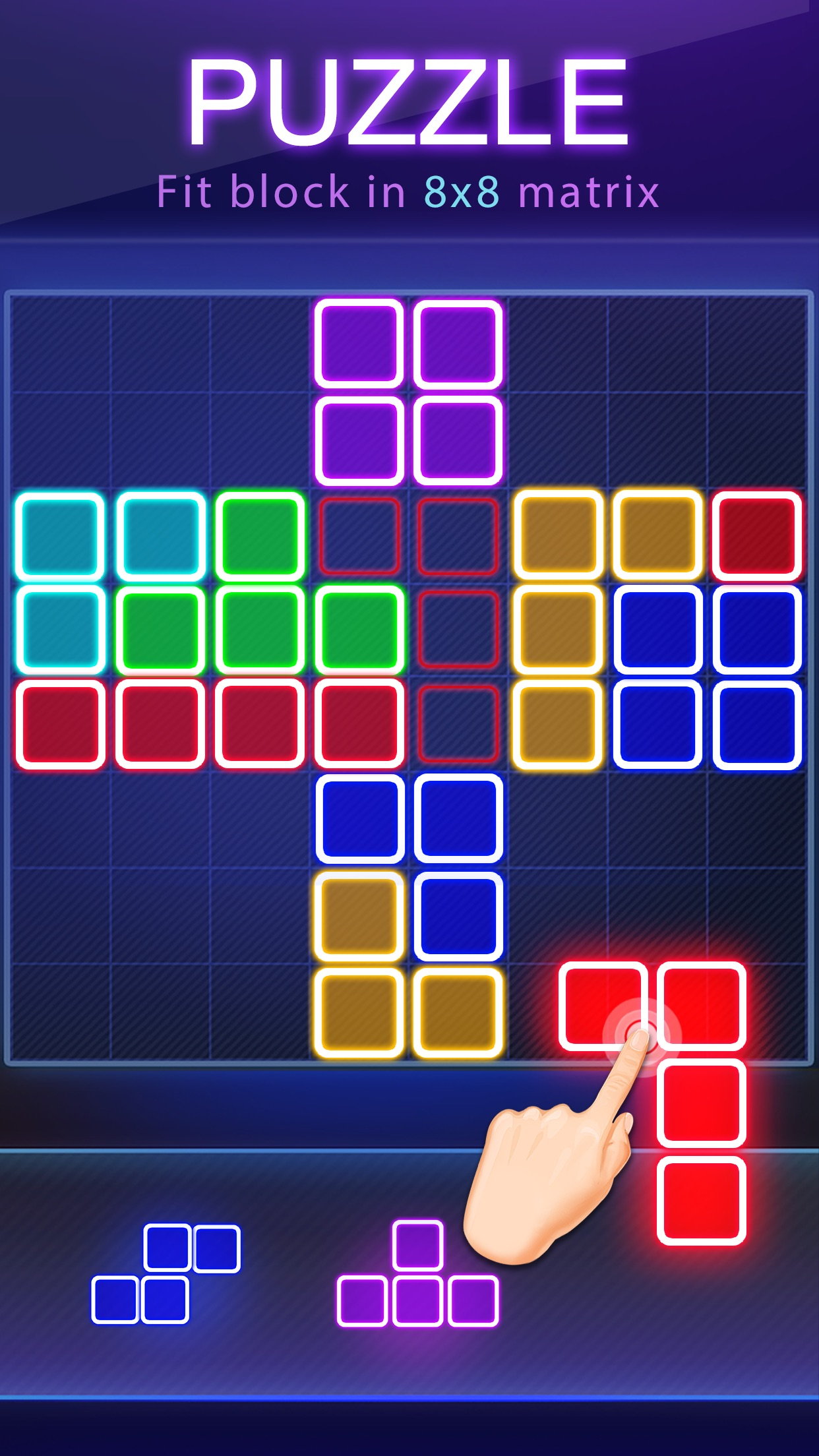 Block Puzzle -Glow Puzzle Game Screenshot