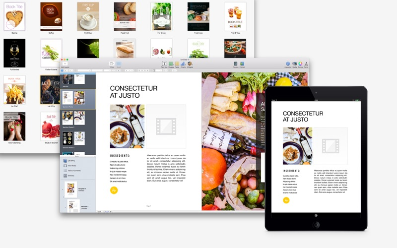 Cookbook Author  - Templates Screenshots