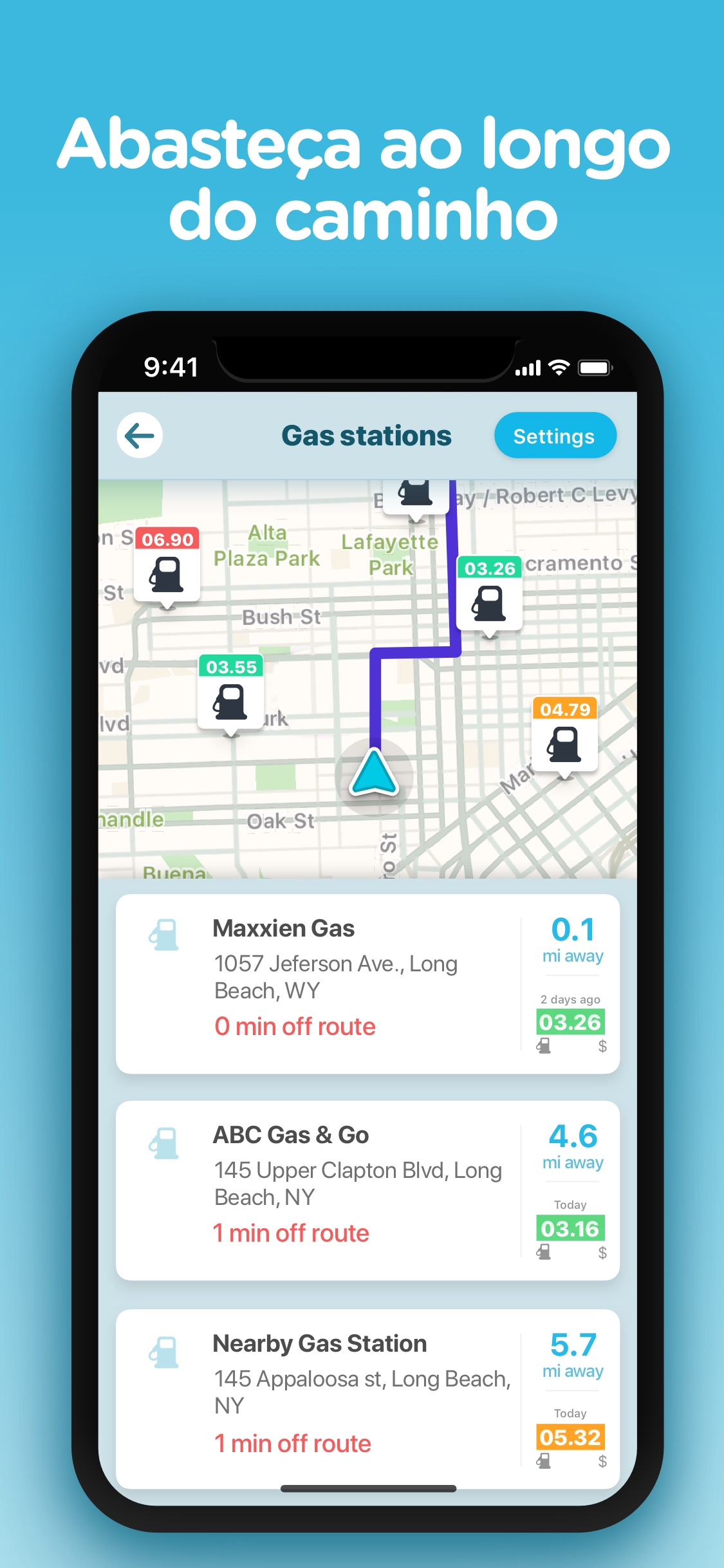 Screenshot do app Waze – GPS e Trânsito ao vivo
