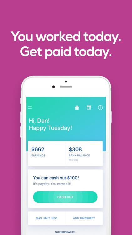 Earnin - Get Paid Today screenshot-0