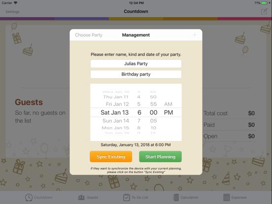 Birthday & Party Planner screenshot