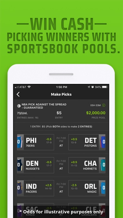 Screenshot for DraftKings Sportsbook in United States App Store