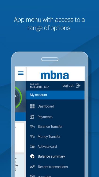 MBNA screenshot-1
