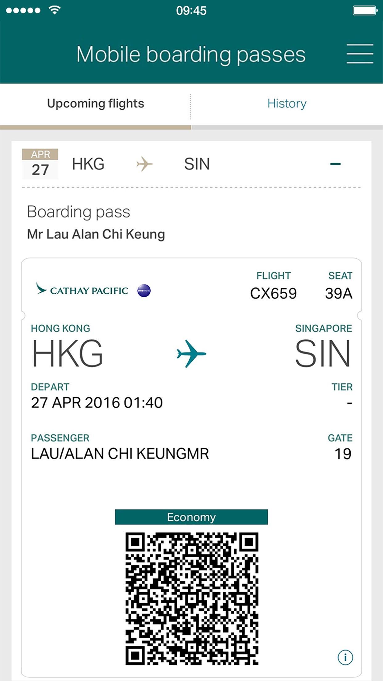 Cathay Pacific Screenshot