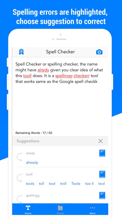Spell checker - check spelling