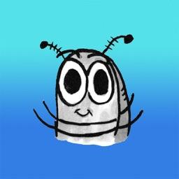 Sammy the Pillbug Stickers