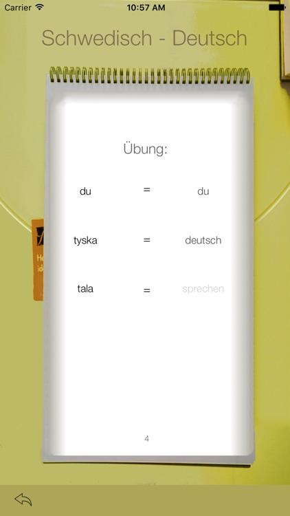Vocabulary Trainer: German - Swedish screenshot-3