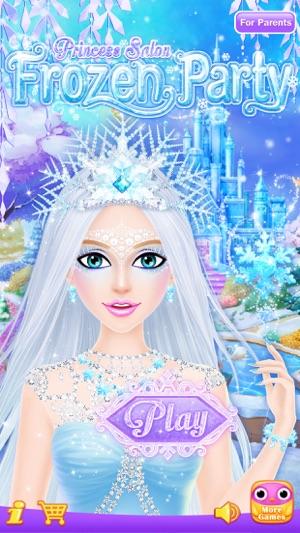 Princess salon frozen party on the app store screenshots solutioingenieria Images