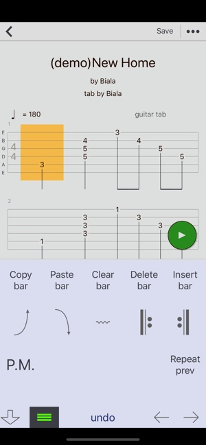 how to use guitar tabs app
