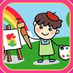 可以涂鸦和涂色的专用画画板儿App - 教育童画图游戏