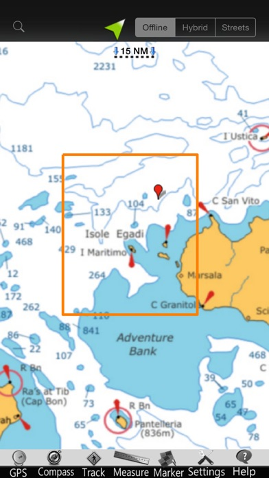 Screenshot of Isole Egadi GPS Carta Nautica5
