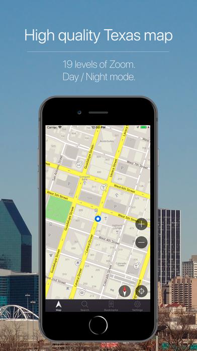 Texas, USA Offline Navigation Screenshot